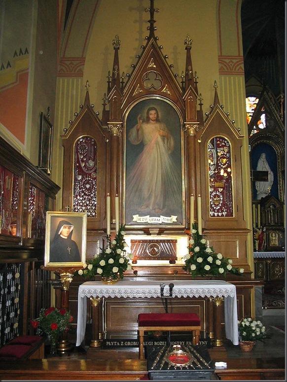 altar convento Lagiewniki DJesus Misericordioso