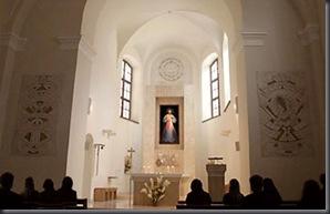 Interior del Santuario de la Divina Misericordia.